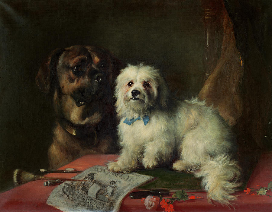 Punch; Dogs Painting - Good Companions by Earl Thomas