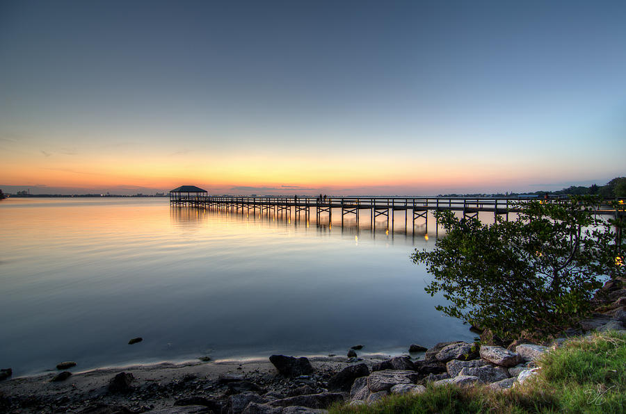 Good Night Palm Bay Photograph  - Good Night Palm Bay Fine Art Print