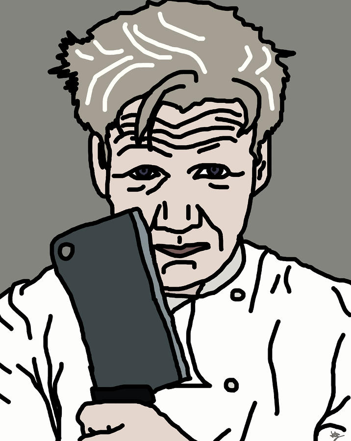 Gordon Ramsay Digital Art