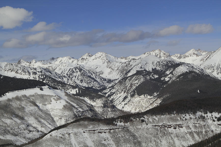Gore Range, Dillon, Colorado, In Winter Photograph  - Gore Range, Dillon, Colorado, In Winter Fine Art Print