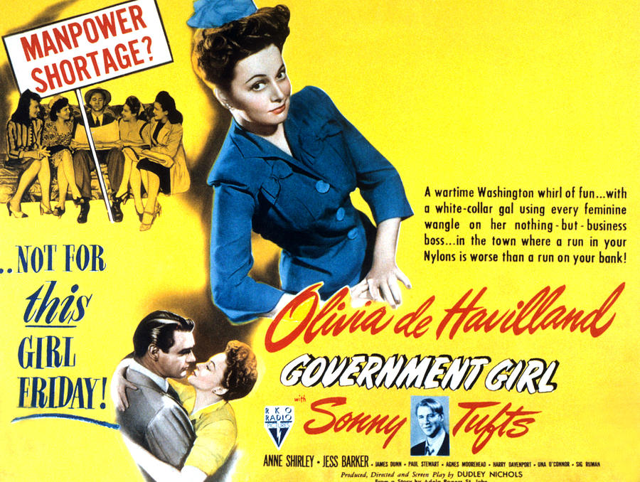 Government Girl, Olivia De Havilland Photograph  - Government Girl, Olivia De Havilland Fine Art Print