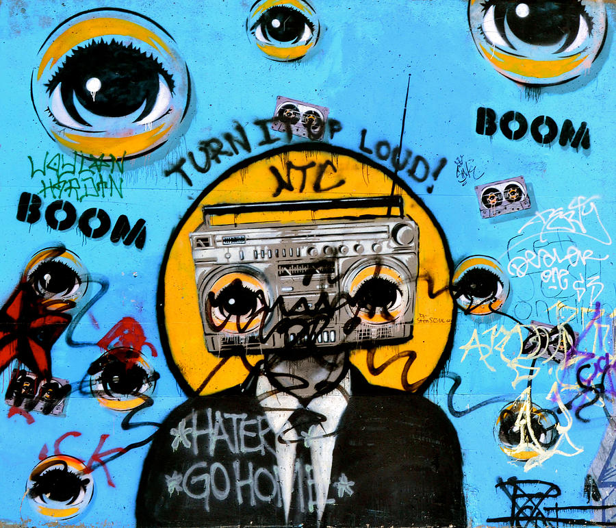 Boombox Pop Art Graffiti Boombox Man