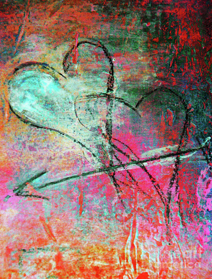 Graffiti Hearts Painting