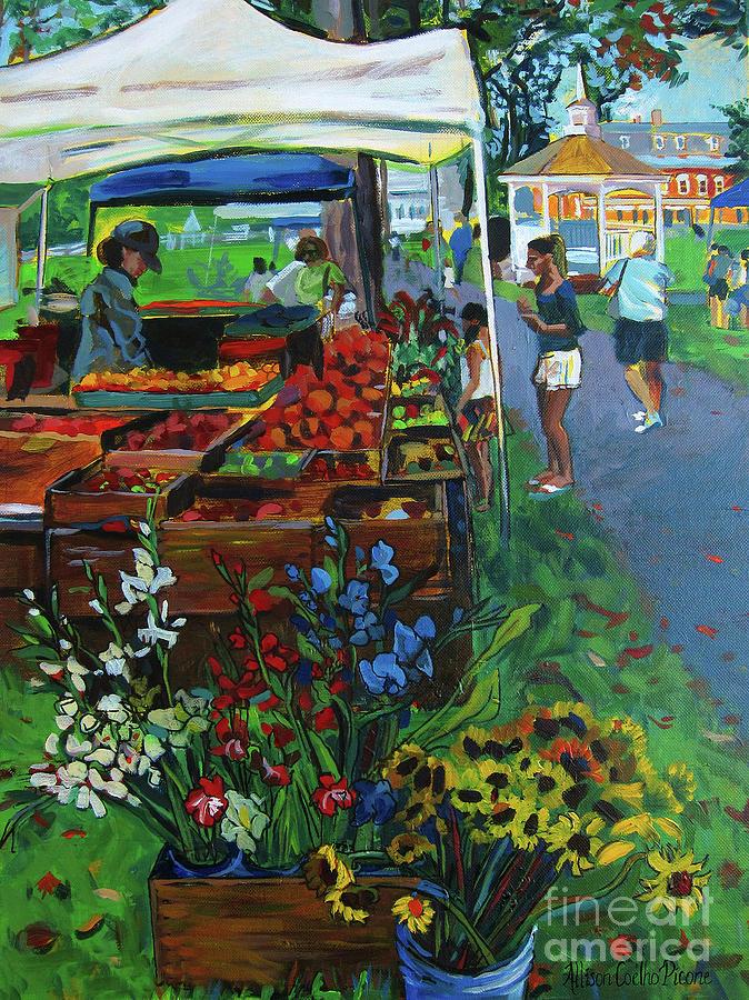 Grafton Farmers Market Painting