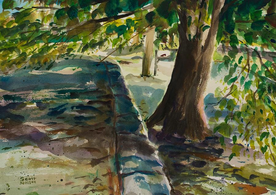 Watercolor Painting - Grafton Wall by Scott Nelson