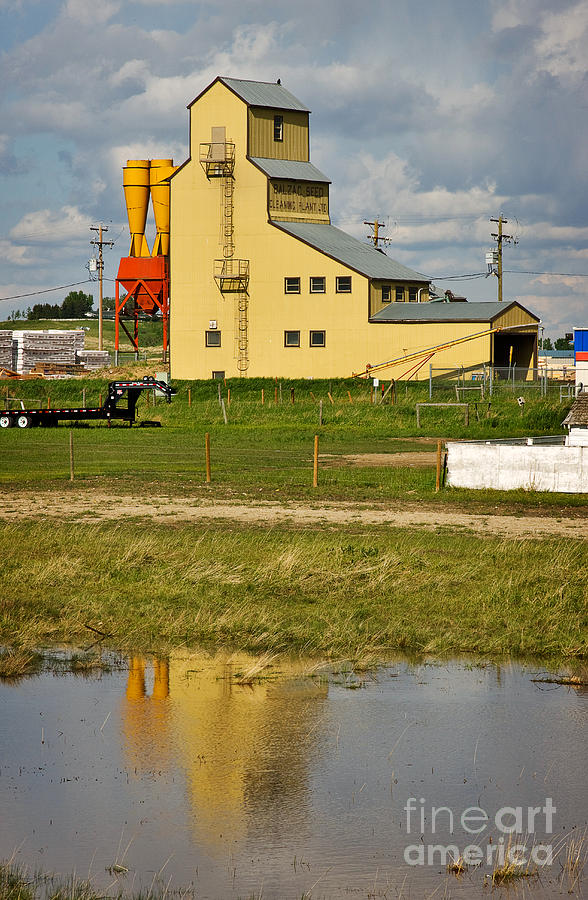 Grain Elevator In Balzac Alberta Photograph