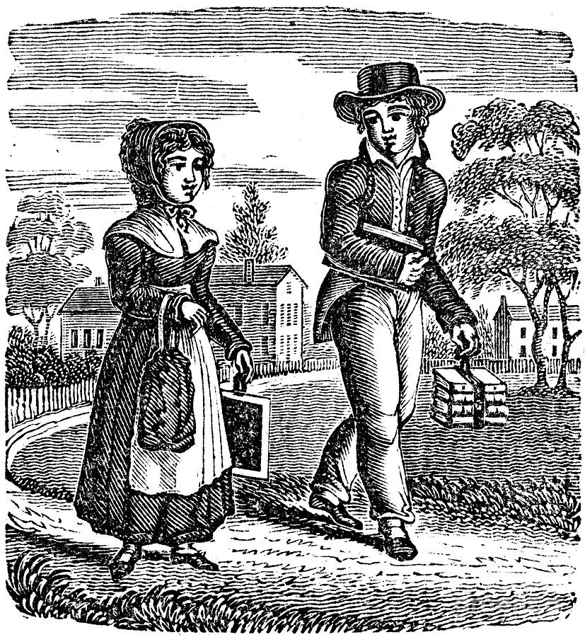 1835 Photograph - Grammar School Children by Granger