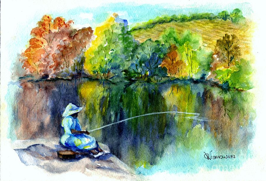 Grammas Uh Gone Fishin Painting  - Grammas Uh Gone Fishin Fine Art Print