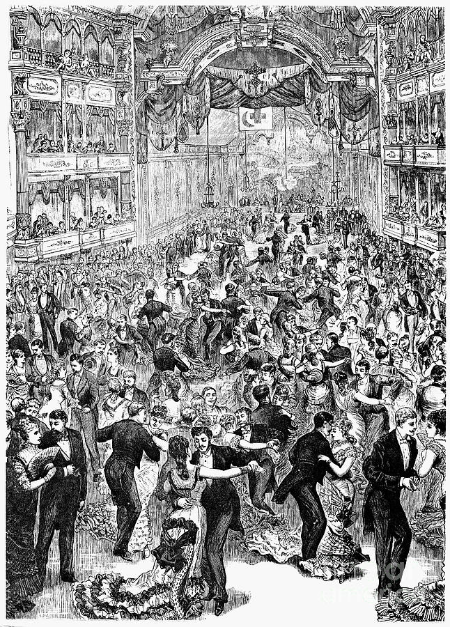 Grand Ball, New York, 1877 Photograph