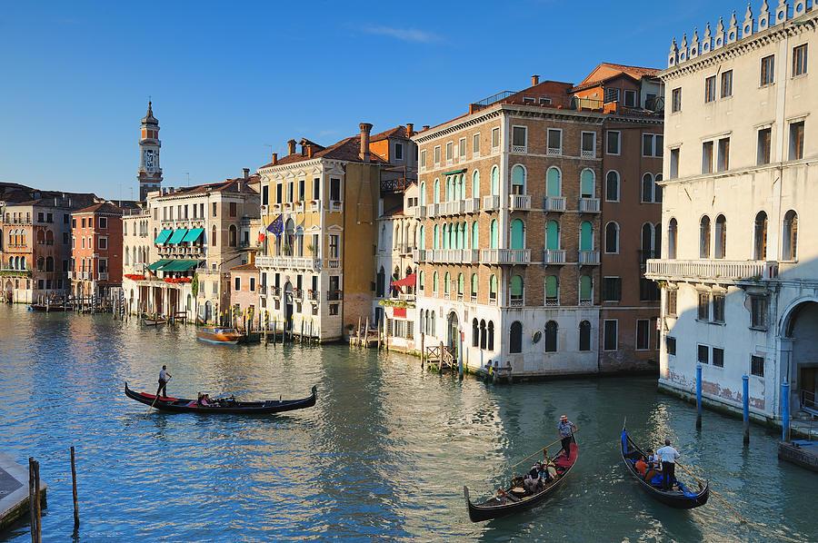 Grand Canal From Rialto Bridge, Venice Photograph