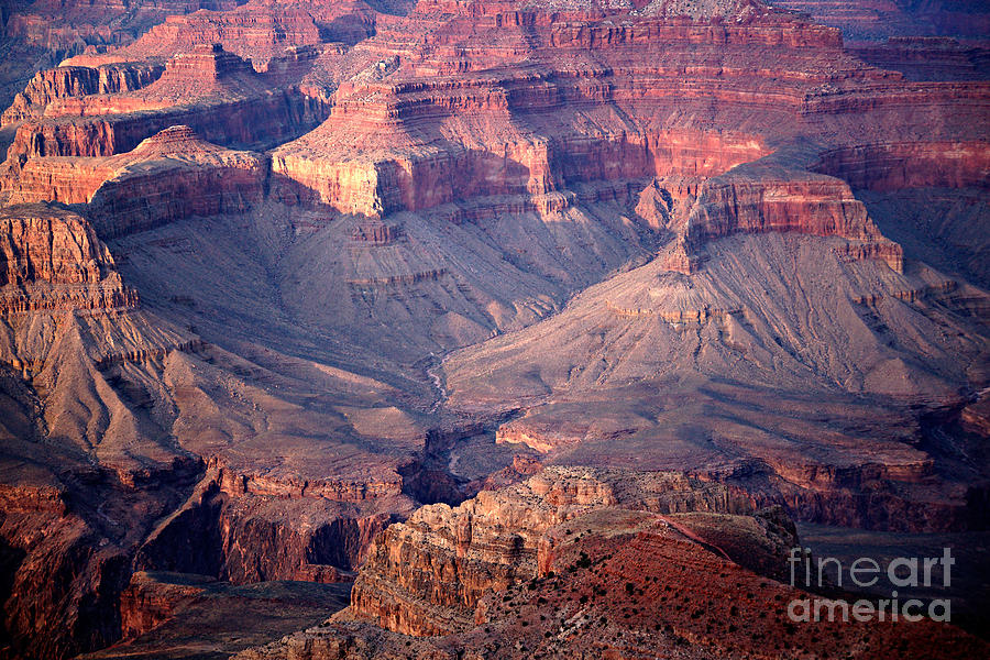 Grand Canyon Evening Interior Photograph  - Grand Canyon Evening Interior Fine Art Print