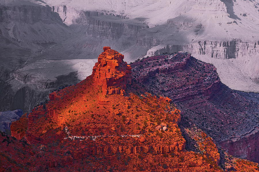 Grand Canyon In Red And Blue Photograph  - Grand Canyon In Red And Blue Fine Art Print