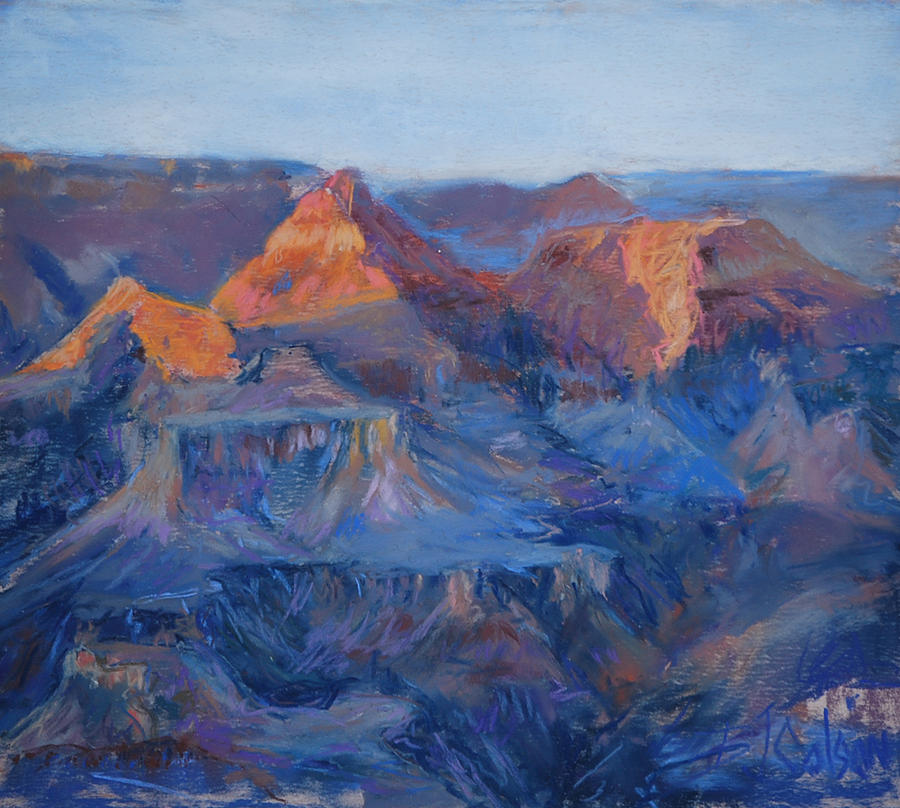 Grand Canyon Study Pastel  - Grand Canyon Study Fine Art Print