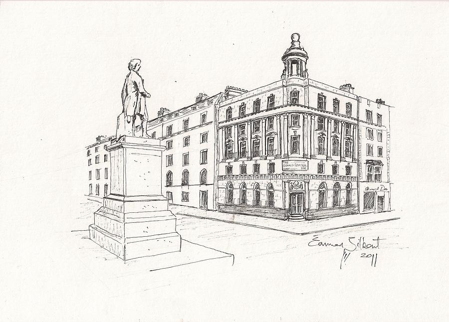 Building  Drawing - Grand Central Bar Dublin by Eamon Gilbert