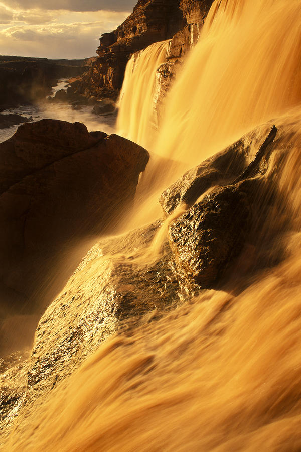 American Southwest Photograph - Grand Falls Of The Little Colorado by Ralph Lee Hopkins