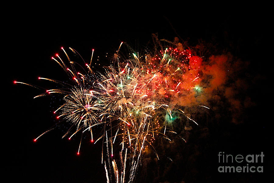Grand Haven Mi Fireworks Photograph  - Grand Haven Mi Fireworks Fine Art Print