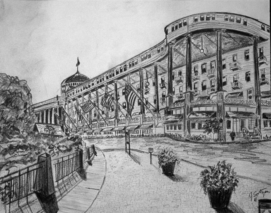 Grand Hotel On Mackinac Island Drawing
