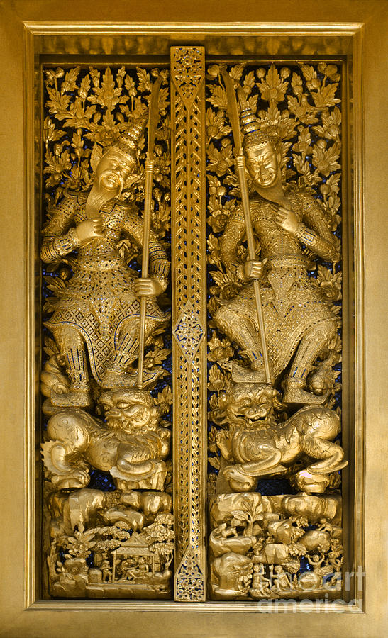 Grand Palace Doors - Bangkok Thailand Photograph