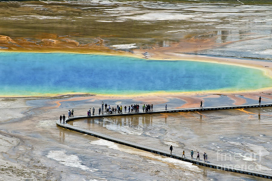 Grand Prismatic Spring Photograph
