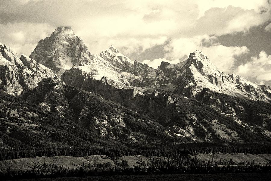 Grand Teton Range In Vintage Light Photograph  - Grand Teton Range In Vintage Light Fine Art Print