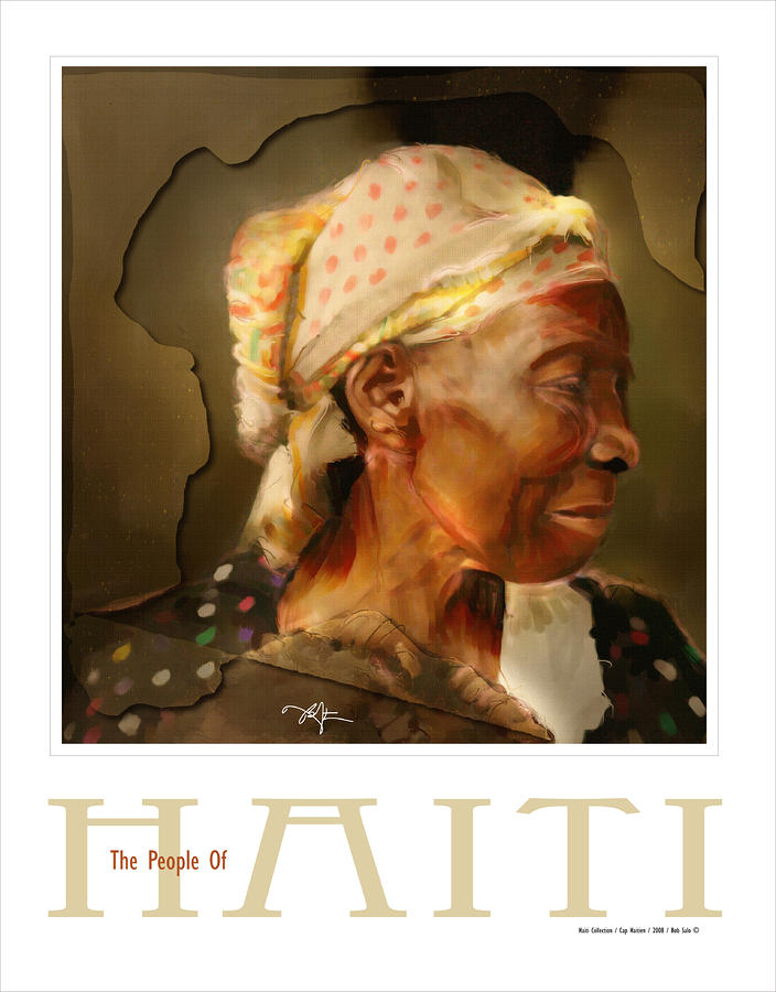 grandma - the people of Haiti series poster Painting  - grandma - the people of Haiti series poster Fine Art Print