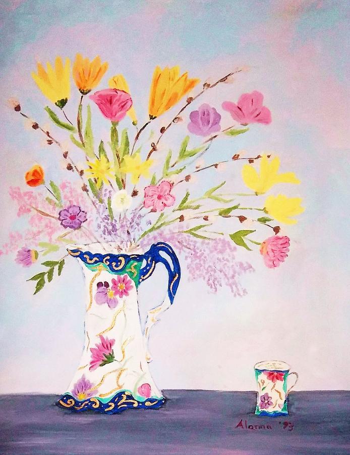 Antiques Painting - Grandmas Chocolate Set by Alanna Hug-McAnnally