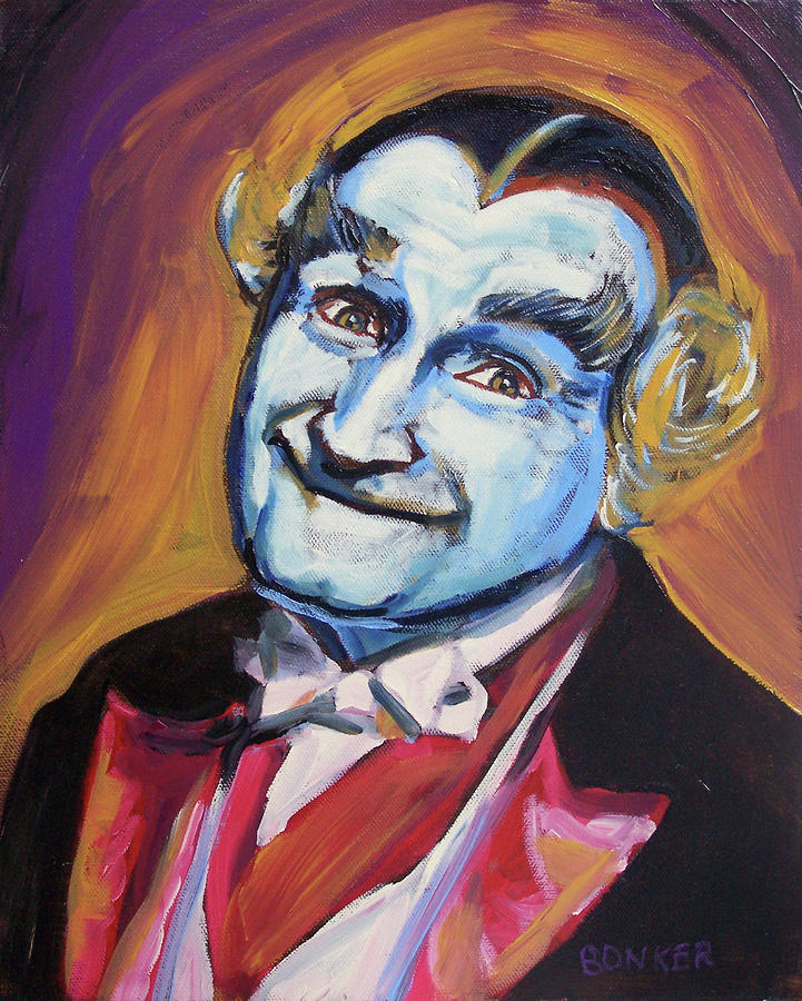Grandpa Munster Painting  - Grandpa Munster Fine Art Print