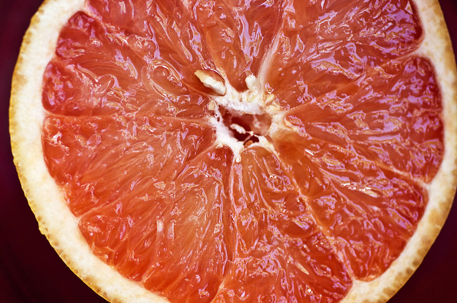 Grapefruit Half Photograph  - Grapefruit Half Fine Art Print