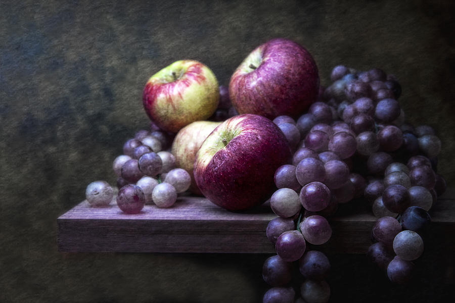 Grapes With Apples Photograph  - Grapes With Apples Fine Art Print