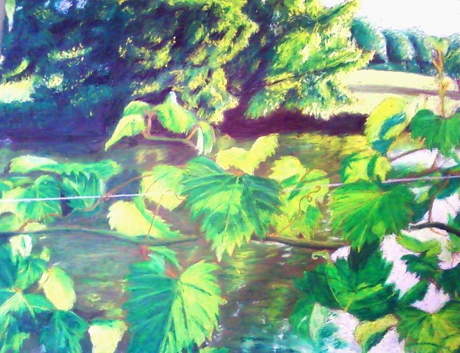 Grapevines Toledo Botanical Gardens Painting