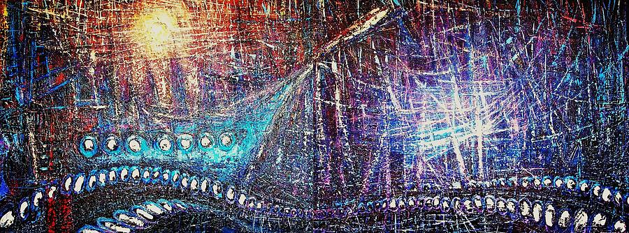 Boats Painting - Gravitanto by Juan D Rodriguez