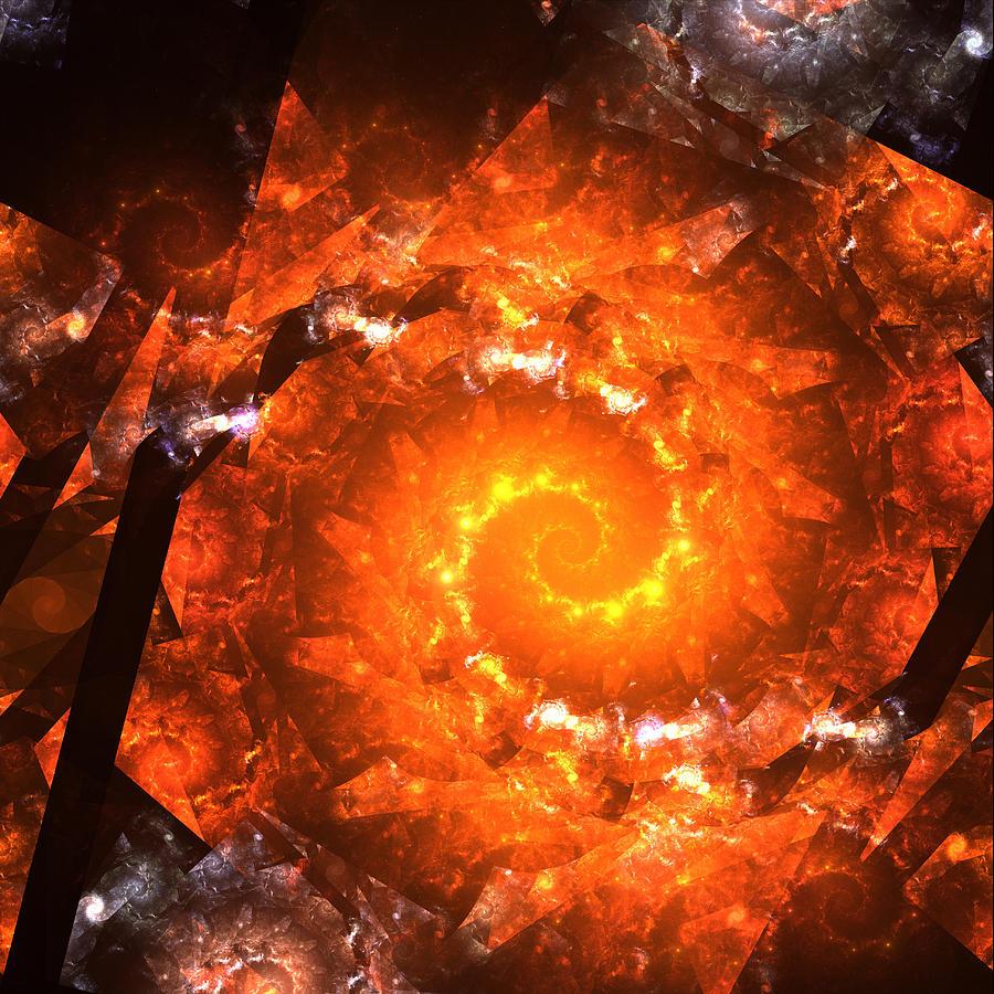 Zero Gravitation Universe Black Hole Super Nova Explosion Star Stars Born Time Digital Art - Gravitation Zero by Stefan Kuhn