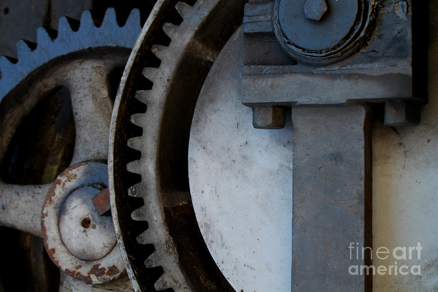 Gray Gear Photograph  - Gray Gear Fine Art Print
