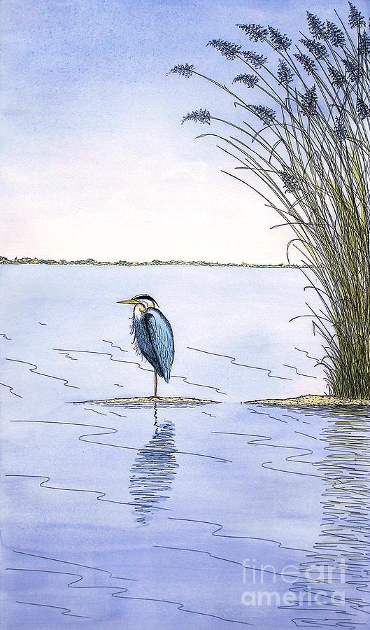 Great Blue Heron Painting