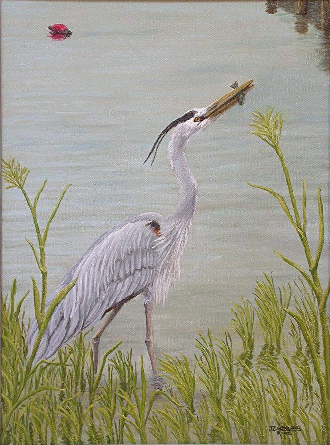 Great Blue Heron Painting  - Great Blue Heron Fine Art Print