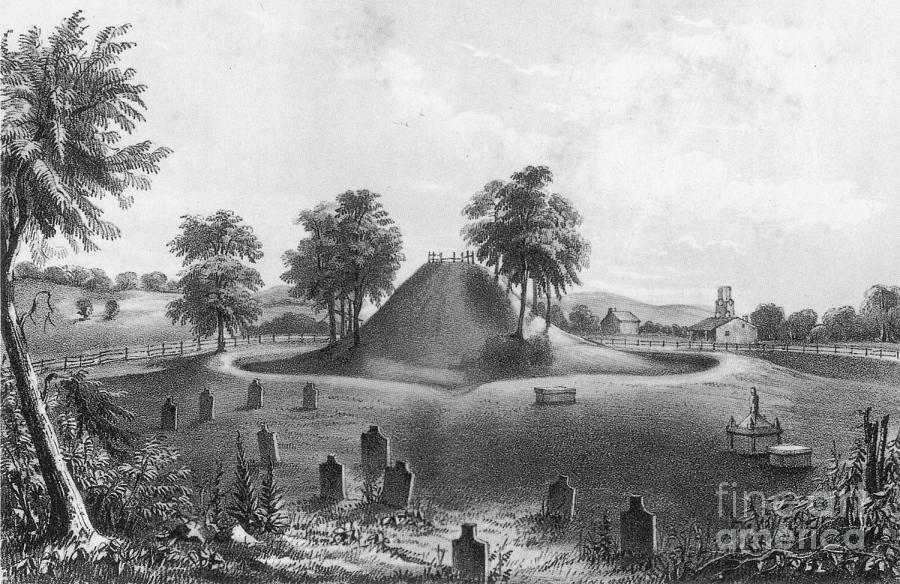 History Photograph - Great Mound At Marietta, 1848 by Photo Researchers