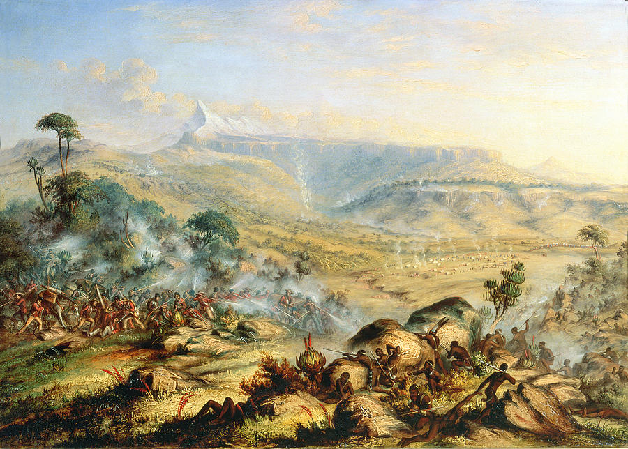 Great Peak Of The Amatola-british-kaffraria  Painting