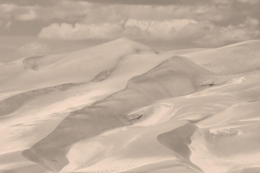 Great Sand Dunes  - In Sepia Photograph