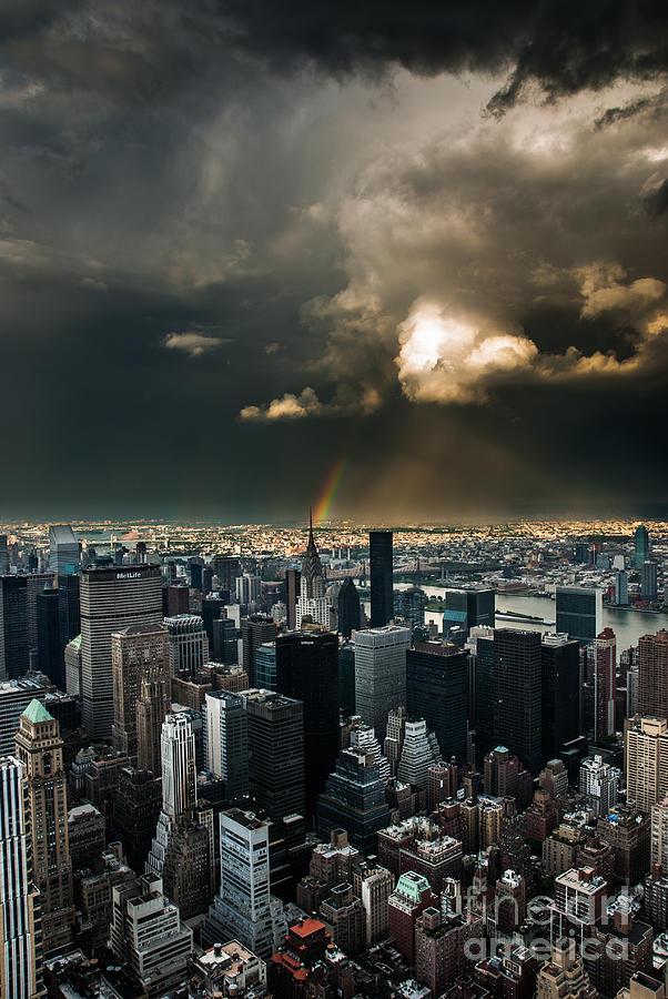 Great Skies Over Manhattan Photograph