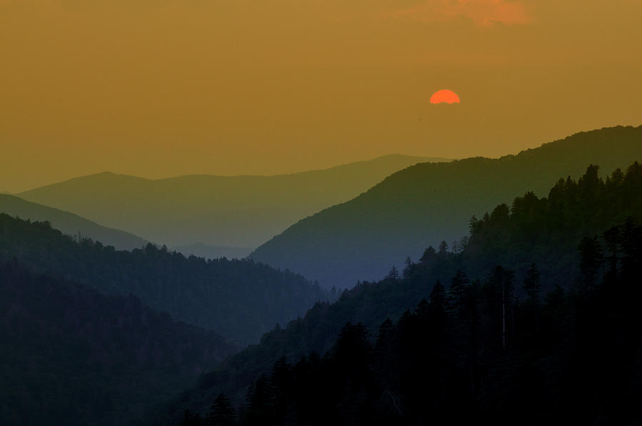 Great Smoky Mountain Sunset Photograph  - Great Smoky Mountain Sunset Fine Art Print