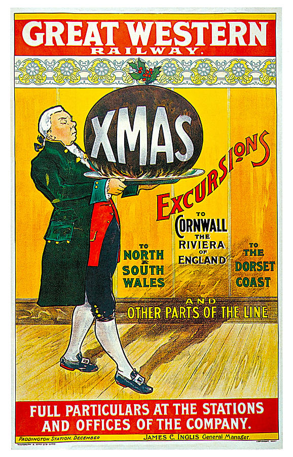 Great Western Railway Xmas Excursions Painting