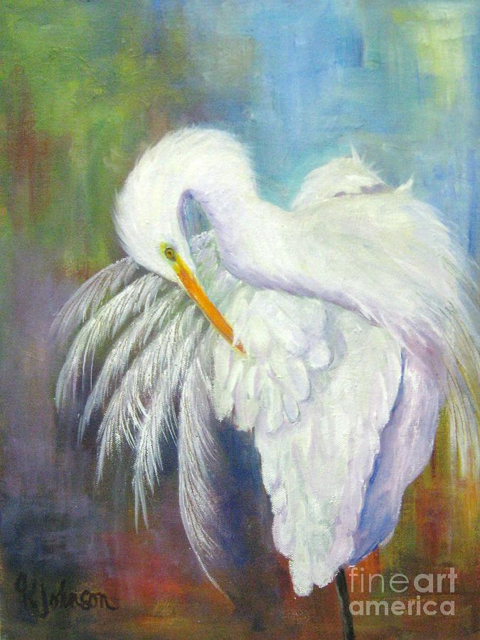 Great white heron painting by georgia johnson for White heron paint