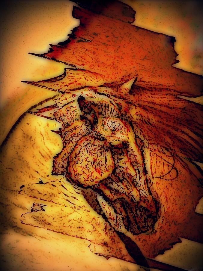 Greek Horse Digital Art  - Greek Horse Fine Art Print
