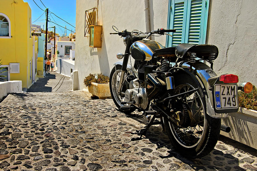 Greek Island Royal Enfield Photograph