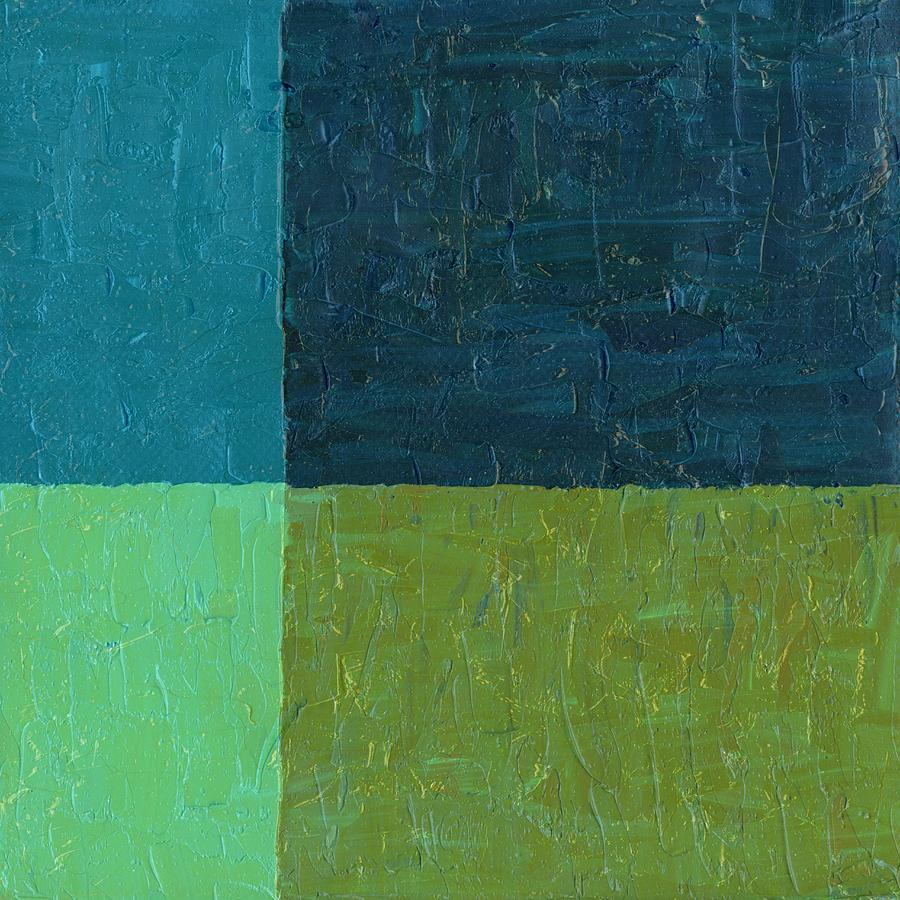 Green And Blue Painting  - Green And Blue Fine Art Print