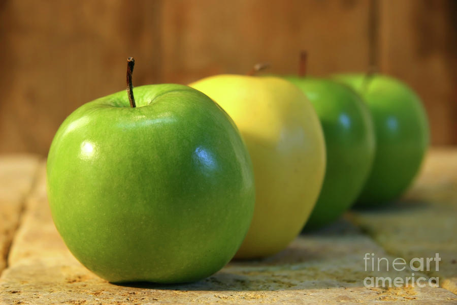 Green And Yellow Apples Photograph
