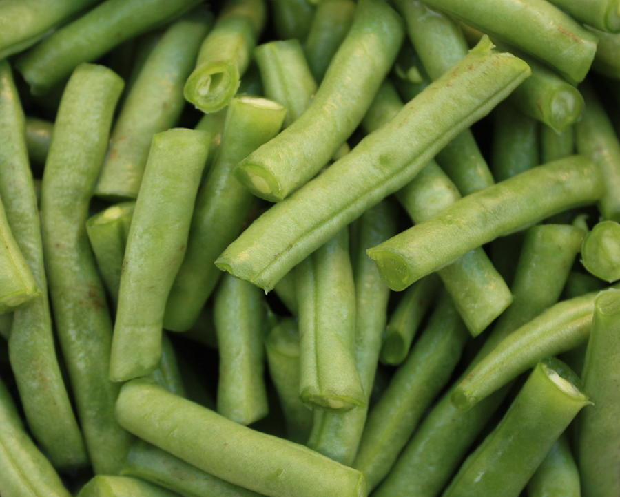 Green Beans Close-up Photograph