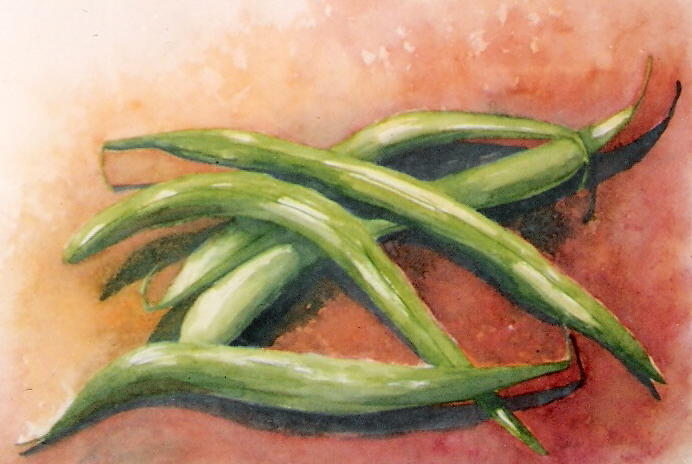 Green Beans Painting