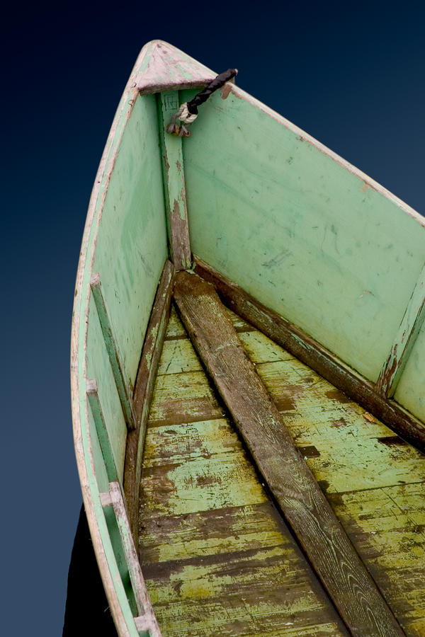 Green Boat Photograph  - Green Boat Fine Art Print