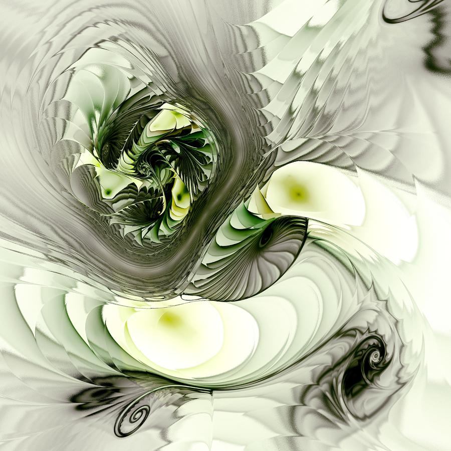 Green Dragon Digital Art  - Green Dragon Fine Art Print